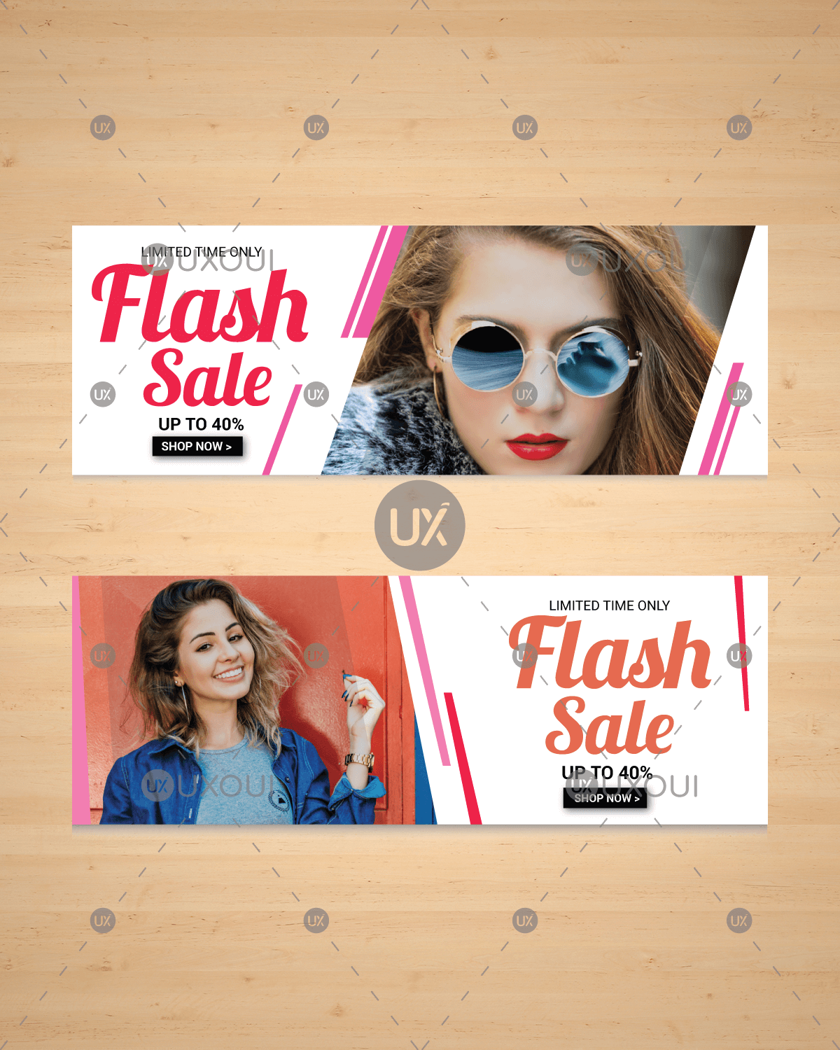 Free Modern Fashion Ad Web Banner Design Template With Photo Vector Uxoui